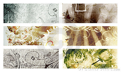Grunge page with texture and designs