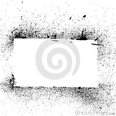 Grunge paint splatter and drip
