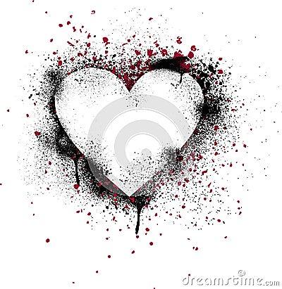 Grunge Paint Splatter Heart