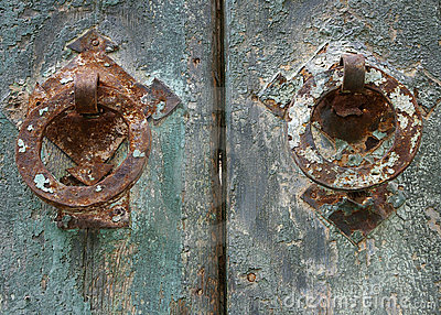 Grunge painted door details