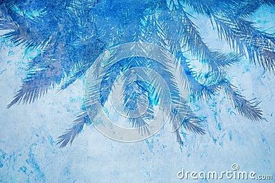 Grunge palm background