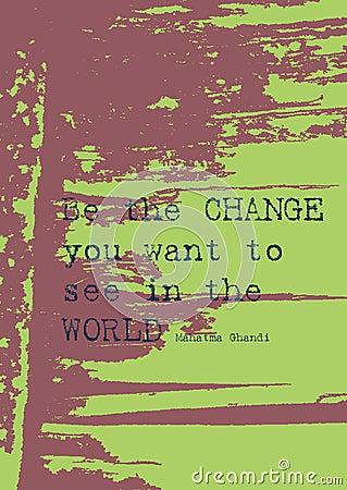 Grunge paper background/ positive message