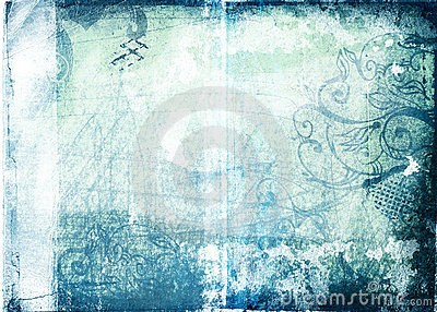 Grunge paper with designs