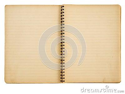 Grunge paper notebook