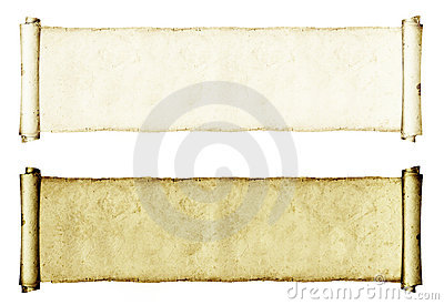 Grunge Paper Rolls