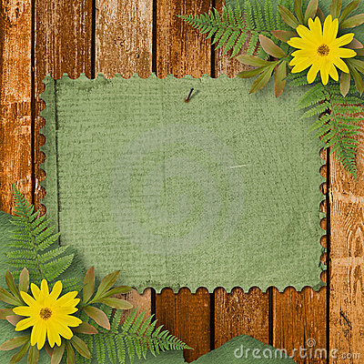 Free Grunge Paper With Bunch Of Flower Stock Image - 11196221