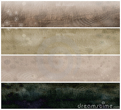 Grunge Parchment Banners  or  Headers