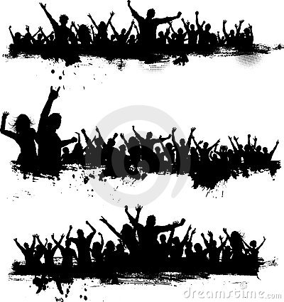 Free Grunge Party Crowds Royalty Free Stock Image - 19262916