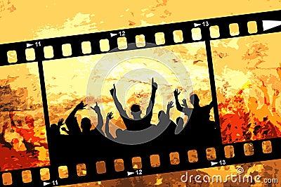 Grunge Party frame