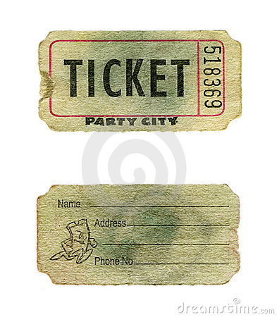 Grunge party ticket