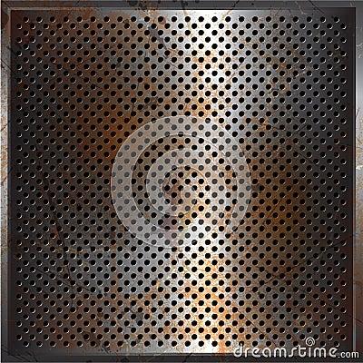 Grunge performated metal background