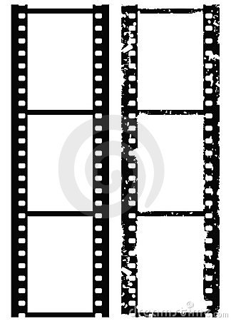 Grunge photo border, 35 mm film, vector