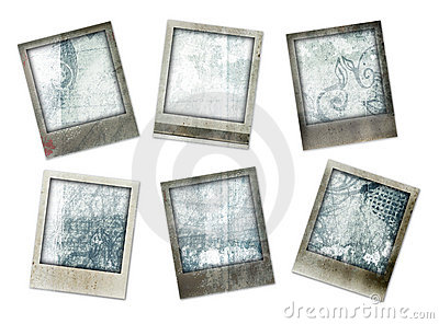 Grunge photo borders with designs