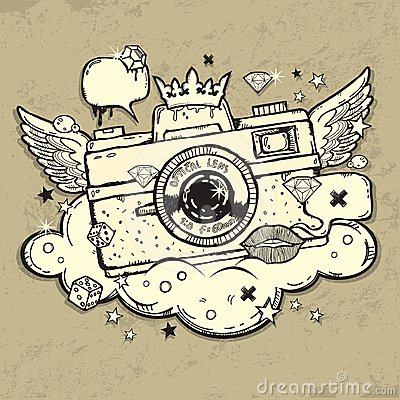Grunge photo camera