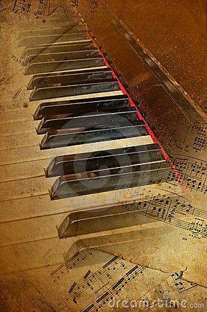 Grunge piano musical background