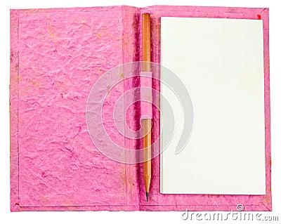 Grunge pink notebook