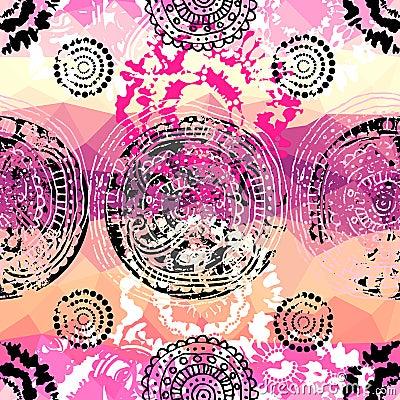 Grunge pink pattern in tie-dye style