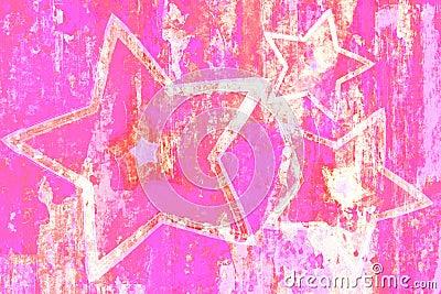 Grunge Pink Stars