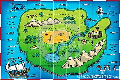 Grunge pirate s map