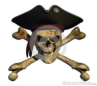 Grunge Pirate Skull