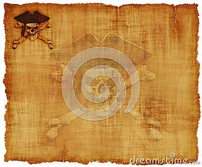 Grunge Pirate Skull Parchment