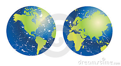 Grunge planet earth