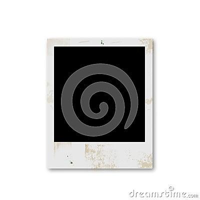 Grunge Polaroid Blank Frame