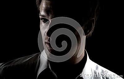 Grunge portrait of businessman