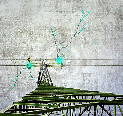Grunge power pylon