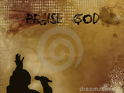 Grunge Praise God Illustration