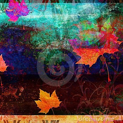 Grunge Psychedelic Fall Background