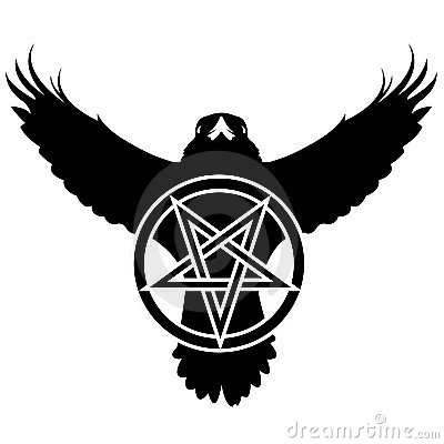 Free Grunge Raven With Pentagram Royalty Free Stock Images - 8515989