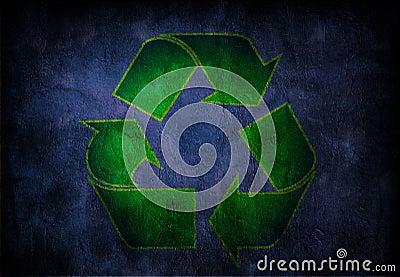 Grunge Recycle Symbol