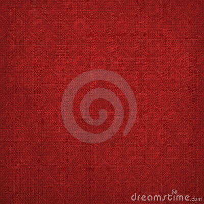 Grunge red background with ancient ornament