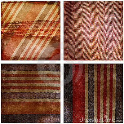 Grunge red and blue stripes