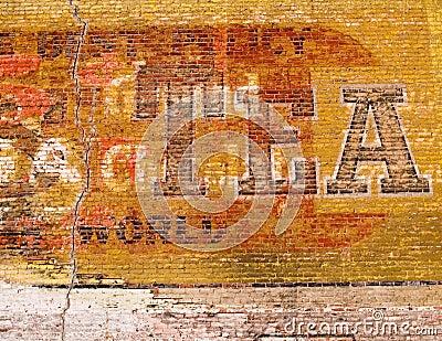 Grunge red brick wall
