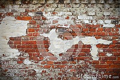Grunge red brick wall texture