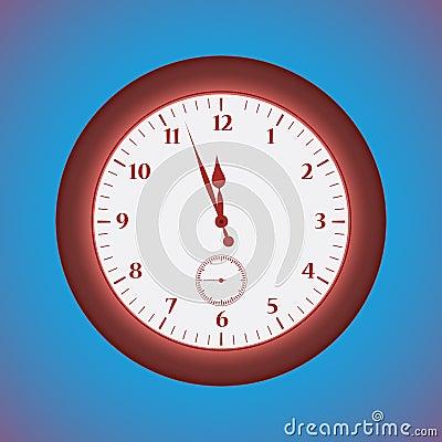 Grunge red  clock