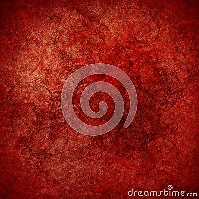 Grunge red highly textured art background