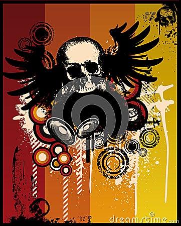 Grunge Retro Skull
