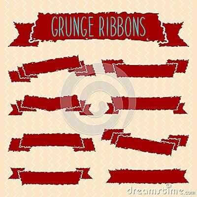 Grunge ribbons