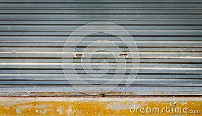 Grunge roll up shutter