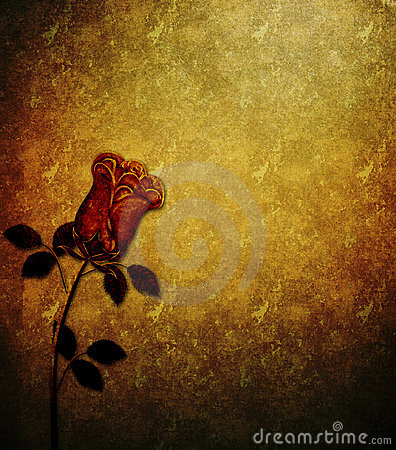 Grunge Rose Textured Background