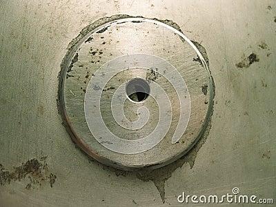 Grunge Round button metal