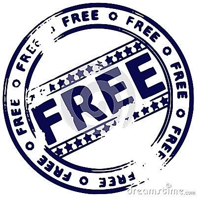 Free Grunge Round Rubber Ink Stamp FREE Stock Photos - 1952033
