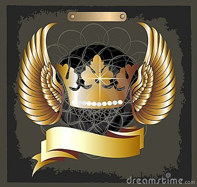 Free Grunge Royal Crown Vector With Wings Royalty Free Stock Photography - 11055747