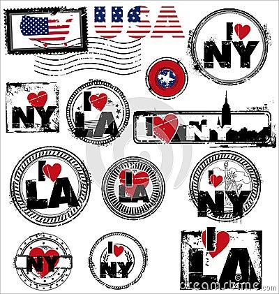 Grunge rubber stamp