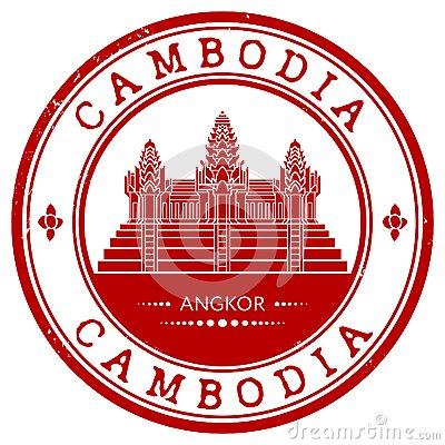 Free Grunge Rubber Stamp With The Name Of Cambodia Royalty Free Stock Image - 33800036
