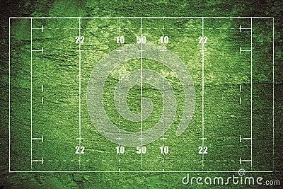 Grunge Rugby Field