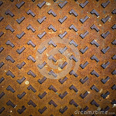 Grunge Rusty Steel Floor Plate